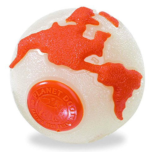 Planet Dog Glow in the Dark Orbee Planet Ball - Durable Chew-Fetch Dog Ball, Tough & Durable Dog Toys for Chasing, Retrieving and Training, Glow in the Dark, Medium 3-Inch, Glow and Orange (The Best Ball In The World)