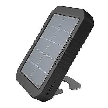 dodocool Cargador Solar Portátil 4200mAh Batería Externa Solar con 4 Luz LED para iPhone SE / 6s / 6 / 6 Plus 5V Dispositivos de USB carga Color Negro