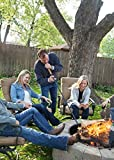 """Walden Fire Pit Stoker Poker XL 46"""" - Stick-One-Way Airflow Valve-Blow Through Fire Poker, Extra Long 46"""" - High Carbon Stainless Steel-Outdoor Campfire Tools and Accessories Fire-Poker for Fire Pit"""