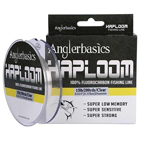 Anglerbasics 4-20LB Haploom Clear Fluorocarbon Fishing Line  100% Pure Fluorocarbon 200Yds/182M Super Sensitive and Low Memory Fishing Line