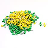 Aexit 16AWG Cable E1508 Pre Insulate Ferrules Terminals Yellow Green 380Pcs