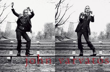 MAGAZINE ADVERTISEMENT For John Varvatos With Iggy Pop On Park ()