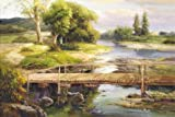 High quality Prints on Canvas Without Stretch and Without Frame ,The Bridge, is the best gift for your relatives, or girl friend and boy friend. That is also for Bar, Basement, Bathroom, Bedroom, Dining Room, Foyer, Game Room, Garage, Gym, Ha...