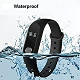 Jikra Smart Bracelet With Heart Rate Monitor OLED Display Bluetooth Fitness Tracker - (Black)
