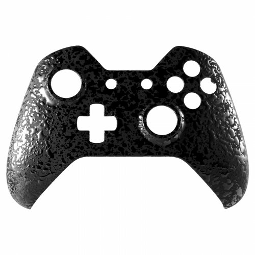 ModFreakz® Front Shell 3D Splash Midnight Black For Xbox One Model 1537/1697 Controllers