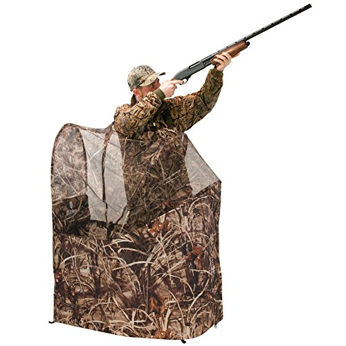 Great Features Of Elkton Outdoors Hunting Blind - Pop up Compact Camouflage Chair Ground Blind with ...
