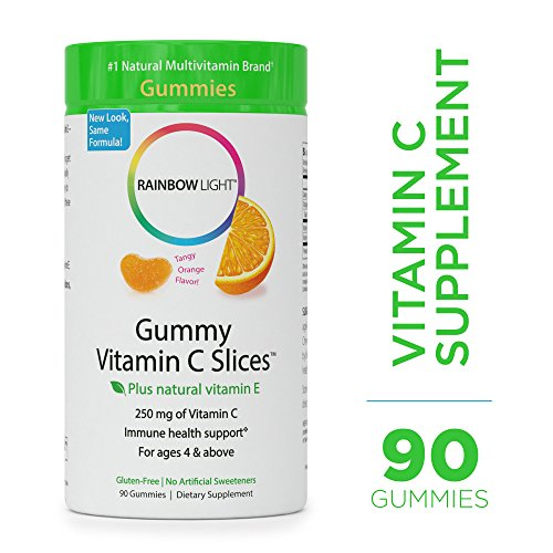 Rainbow Light - Gummy Vitamin C Slices - Supports Immune Health, Provides Antioxidant Protection - 90 (Provide Antioxidant Protection)