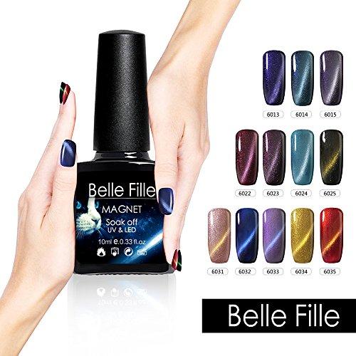 Belle Fille 10ml UV Gel Nail Polish Chameleon Cat Eye Gold L