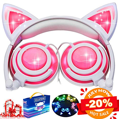 Kids Cat Ear Headphones for Girls Boys Toddlers
