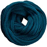 NEOSAN Women's Men Thick Winter Knitted Infinity Circle Loop Scarf ST Teal