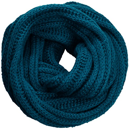 Knit Cable Scarf Long (NEOSAN Women's Men Thick Winter Knitted Infinity Circle Loop Scarf ST Teal)