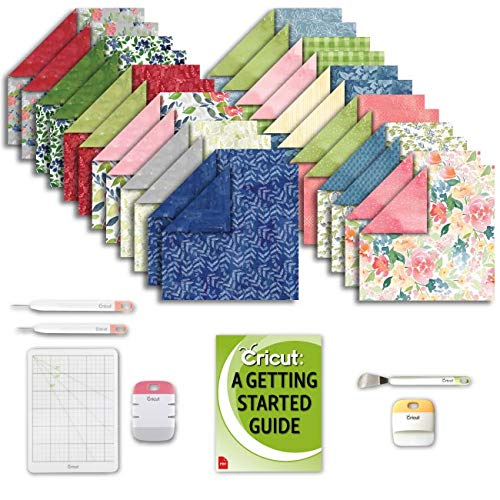 Cricut Machine Natalie Malan Deluxe Paper: Watercolor Florals Packs, Essential Craft Tools Kit and Project eGuide Bundle