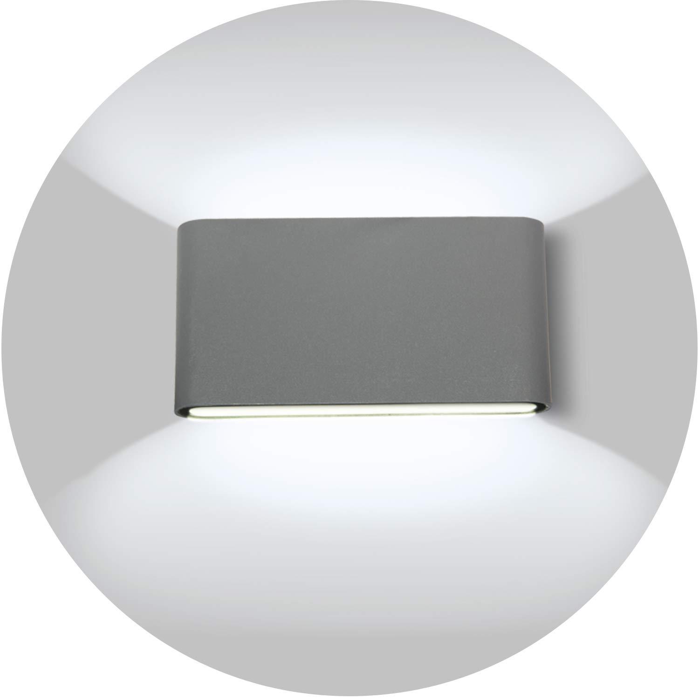 Topmo-plus 12W LED Wandlampe Wasserdichte IP65 Wandbeleuchtung LED Außenwandleuchten 18CM (weiß/naturweiß) [Energieklasse A+]