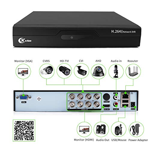 Xvim 8ch 1080p Security Camera System Outdoor With 1tb