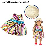 Wffo Clothes Dress for 18 Inch American Girl Doll Accessory Girl Toy (Multicolor)