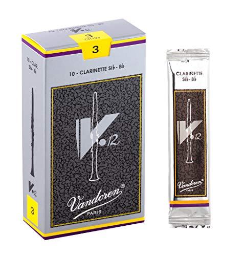 Vandoren CR193 Bb Clarinet V.12 Reeds Strength 3; Box of 10