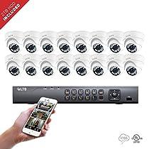 16 Channel LTS DVR + (16) x Platinum HD-TVI 2.1 Megaixel Turret Camera + 2TB HDD Package