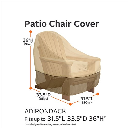 Classic Accessories Veranda Adirondack Patio Chair Cover - Durable and Water Resistant Outdoor Chair Cover, Standard (71932)