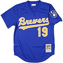 Robin Yount Gold Milwaukee Brewers Authentic Mesh Batting Practice Jersey