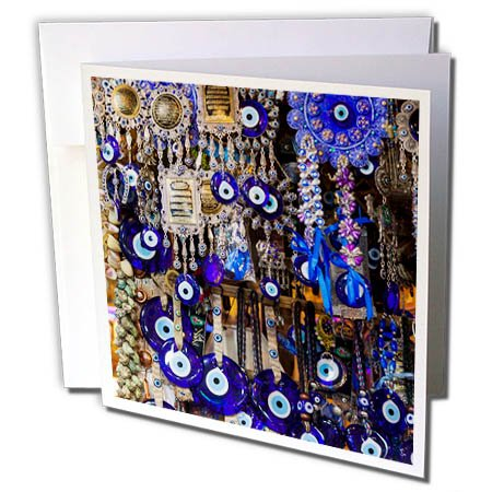 - 3dRose Danita Delimont - Markets - Central Iran, Shiraz, Bazar E Vakil Market, Traditional Evil Eye wards - 12 Greeting Cards with envelopes (gc_276832_2)
