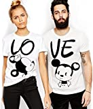 ADYK Unisex Cotton Couple T-Shirt - Pack of 2