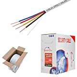 4 wire fire - 22/4 Solid Conductor 500ft Fire / Security Burglar Station Alarm Wire Security Cable (Unshielded (UTP), 22/4, Solid, 500ft)