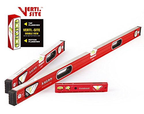 Goldblatt 3-piece Torpedo Spirit Level Set (Goldblatt Tools)
