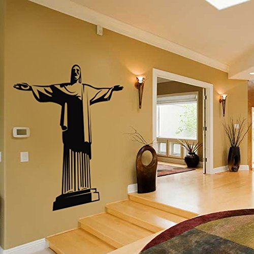 Rio de Janeiro Christ Statue Decal Vinyl Wall Sticker, Brazil Culture Icon Decor