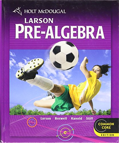 Price comparison product image Holt McDougal Larson Pre-Algebra: Student Edition 2012
