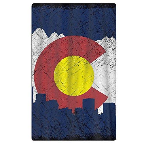 100% Cotton Plush Flag Of Colorado In Vintage Retro Style Ov