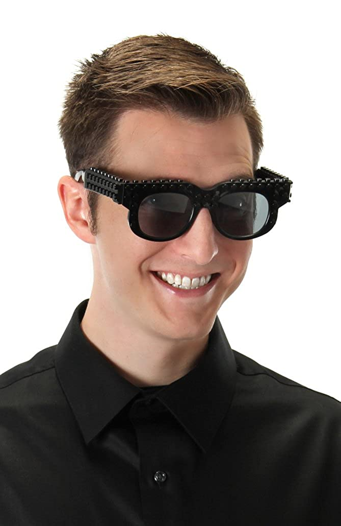 elope Bricky Blocks Black Costume Wayfarer Sunglasses