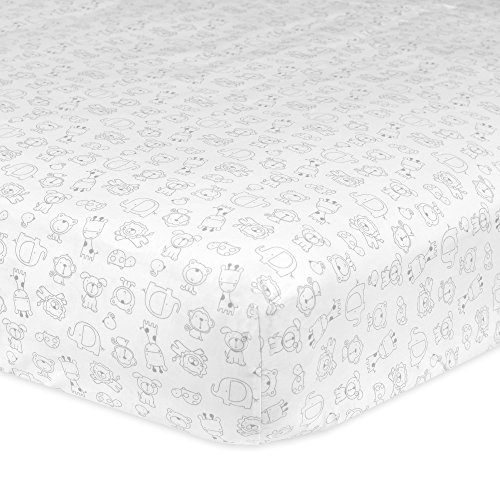 Gerber Cotton Fitted Sheet Animal
