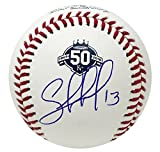 Kansas City Salvador Perez Autographed Royals 50th Anniversary Baseball JSA Auth