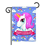 Ornament Collection GS192067-P3 Magical Unicorn Birthday Special Occasion Party & Celebration Impressions Decorative Vertical 13″ x 18.5″ Garden Flag Set with Banner Pole Included Printed in USA Review