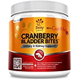 Zesty Paws Cranberry for Dogs - UT Incontinence Support + Immune Health Dog Antioxidant - Urinary Tract UTI & Kidney + Bladder Support - D-Mannose + Organic Marshmallow & Licorice - 90 Chew Treats