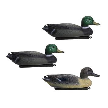 3 Pieces Garden Yard Scarer Duck Decoy Floating Decoy Decoying Lawn Ornament