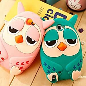 zxc Roumang Heirs Cartoon 3D Owl Silicone Case for Samsung Note 2 N7100 , Pink