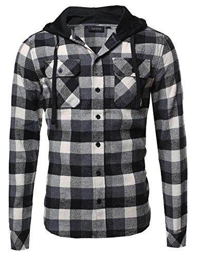 Black And White Flannel Shirt - 2