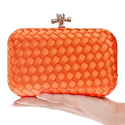 americana Bag colore europea La Feast Package Night arancione The Arancione Evening Dinner e Qaryyq Weaving moda Ladies H56wvqw