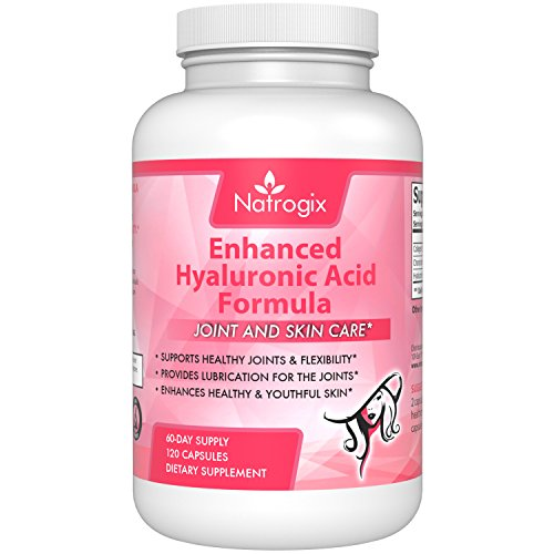 Natrogix Hyaluronic Acid 120 mg / serving - 120 VCaps, with Collagen Type II and Chrondroitin Sulfate, Support (Biocell Collagen Vegetables Caps)