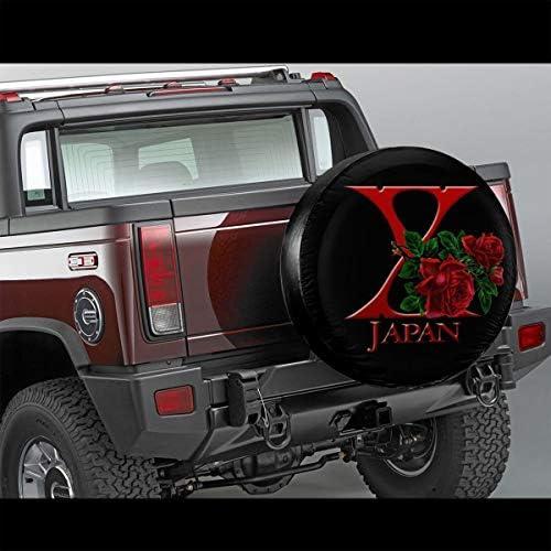バラ X Japan へタイヤカバー タイヤカバー スペアタイヤカバー タイヤ袋 へタイヤバッグ タイヤトート へタイヤ ホイール 保管 タイヤ 収納 に便利 防日焼け 防塵 防水 厚手生地 劣化対策 長持ち