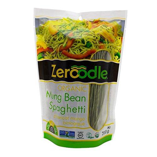 Zeroodle 6-Pack Low Net Carb Gluten Free Vegan Pasta - Organic Mung Bean Edamame Spaghetti Noodles