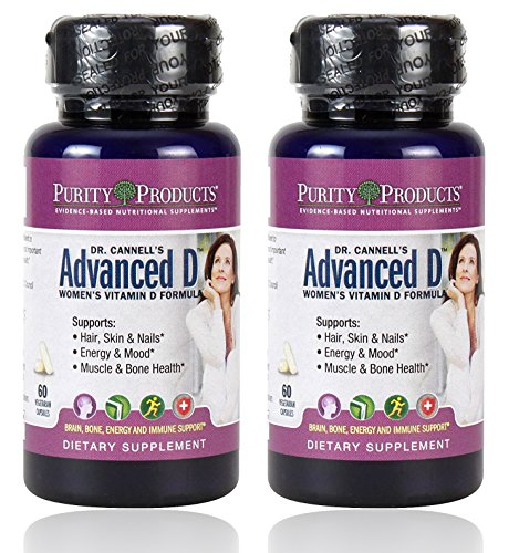 Purity Products - Dr. Cannell's Advanced Vitamin D Women's Formula, 60 vegetarian capsules - 2 Pack by Purity Products