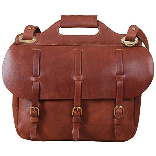 Leather Saddlebag Briefcase Laptop Bag Adjusting Straps Brown USA Made No. 1
