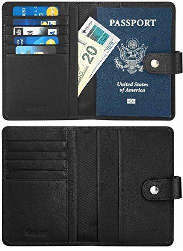 SimpacX Passport Holder, Passport Wallet Travel Wallet Passport Cover Case RFID Blocking Genuine Leather (brown) by SimpacX
