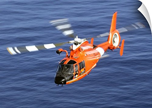 Stocktrek Images Wall Peel Wall Art Print entitled A Coast Guard HH 65A Dolphin rescue helicopter in flight (Hh 65a Dolphin)