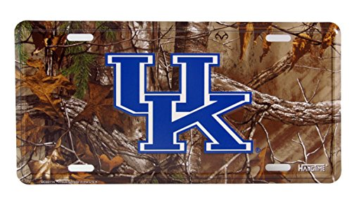 HangTime University of Kentucky Camouflage Metal License Plate Wall Tag