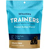 Buckley Trainers All-Natural Grain-Free Dog Training Treats, Peanut Butter, 6 Ounce