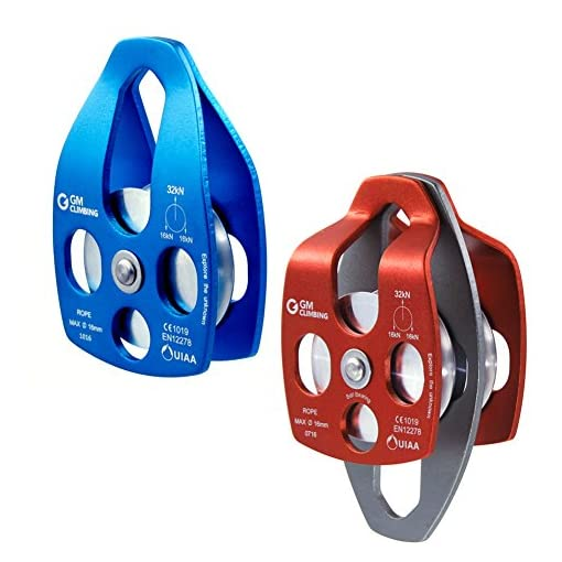 GM CLIMBING 32kN UIAA Certified Large Rescue Pulley Single