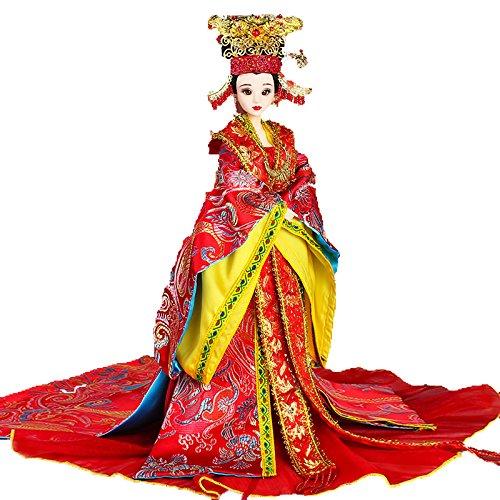 中国の昔の服装の子供明の新婦鳳凰の形をした冠の肩掛けの赤色のウェディングベールの関節体人の偶数収蔵品 (A) A  B07DGFLVSF